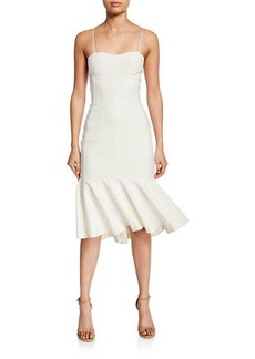 Cinq a Sept Salina Square Neck Cocktail Dress