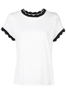 Cinq a Sept scalloped Eve T-shirt