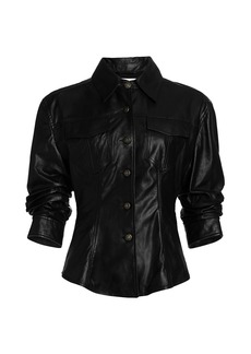 Cinq a Sept Scrunched Canyon Leather Jacket