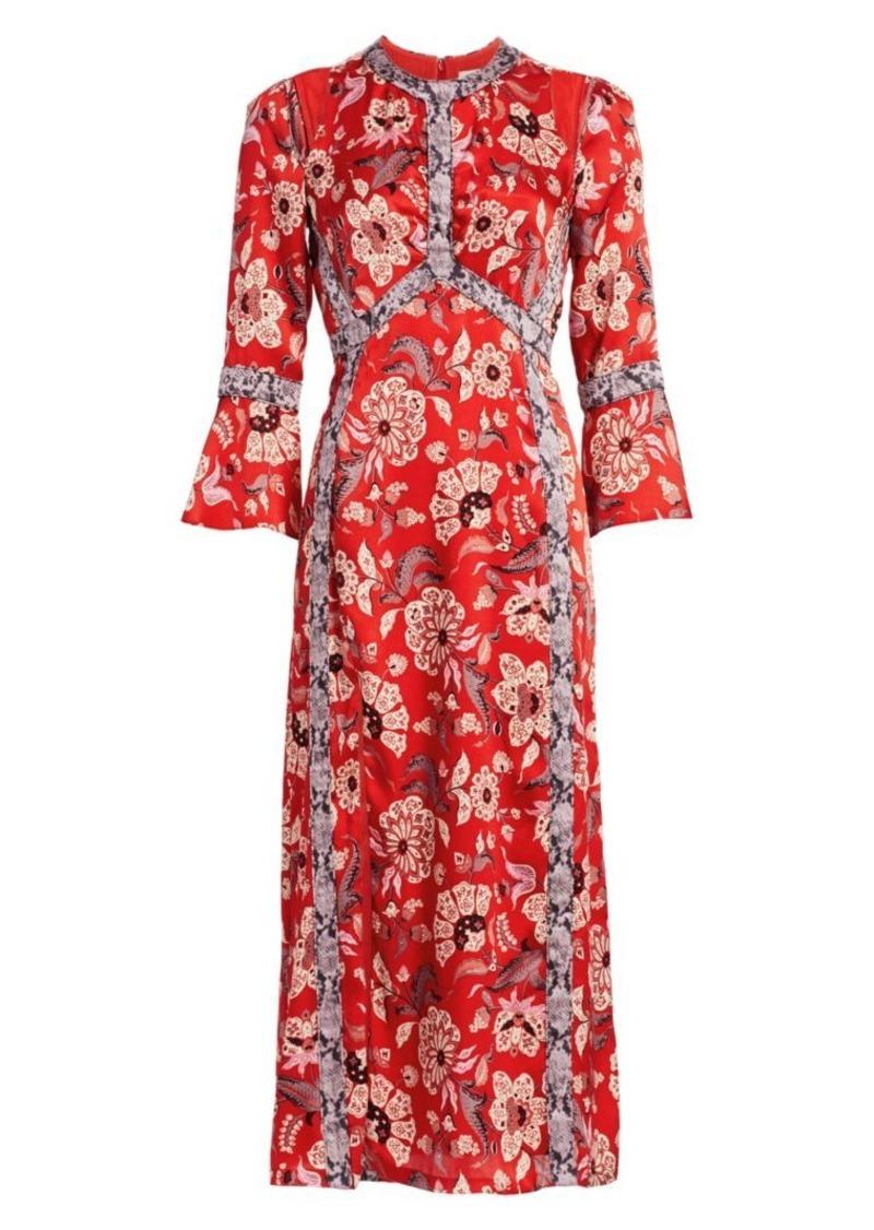 Cinq a Sept Smyth Floral Midi Dress