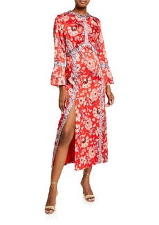 Cinq a Sept Smyth Floral-Print Empire Dress