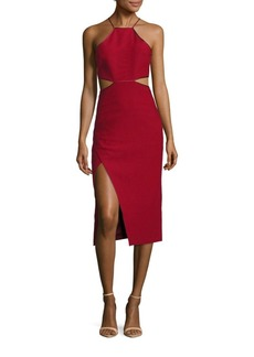Cinq a Sept Solid Halter Cutout Dress