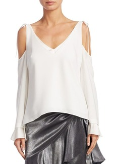 Cinq a Sept Sonia Cold-Shoulder Top