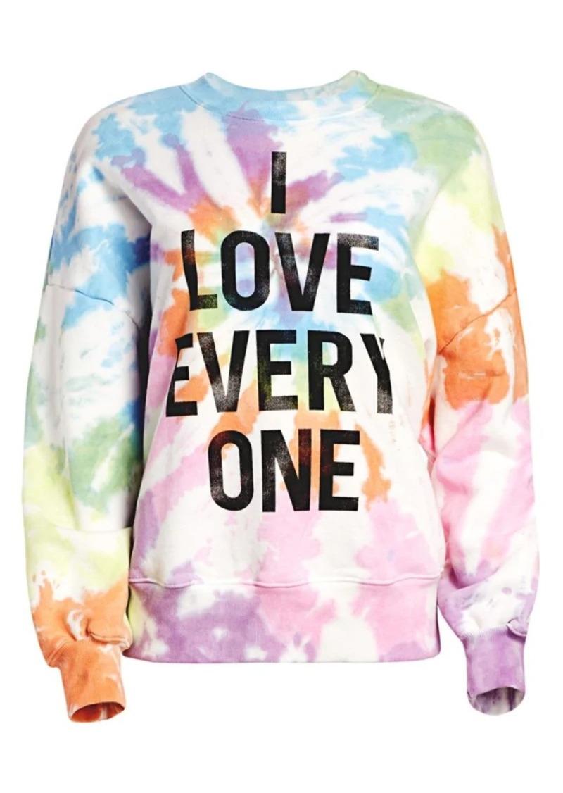 Cinq a Sept Unisex Stonewall Tie Dye Sweatshirt