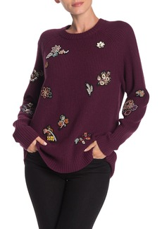 Cinq a Sept Tania Embellished Pullover Sweater