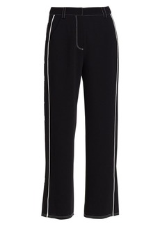 Cinq a Sept Tatum Western Embroidered Ankle Trousers