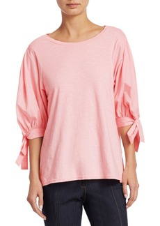 Cinq a Sept Daise Tie Sleeve Top