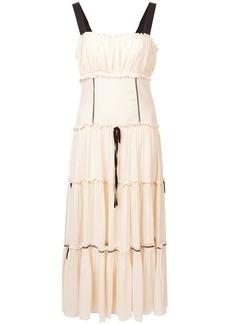 Cinq a Sept tiered detail sleeveless dress
