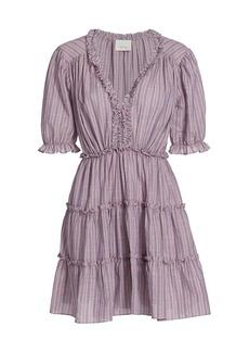 Cinq a Sept Tish Plaid Mini Dress