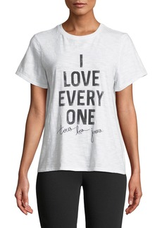 Cinq a Sept Tous Les Jours I Love Everyone Short-Sleeve Graphic Tee