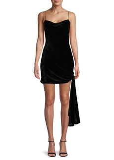 Cinq a Sept Velvet Mini Dress