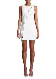 Cinq a Sept Vita Tie-Front Sleeveless Mini Dress