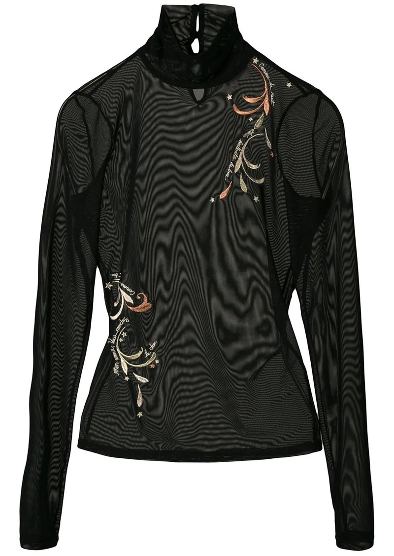 Cinq a Sept whimsical paisley turtleneck