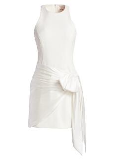 Cinq a Sept Windsor Sash-Tie Mini Dress