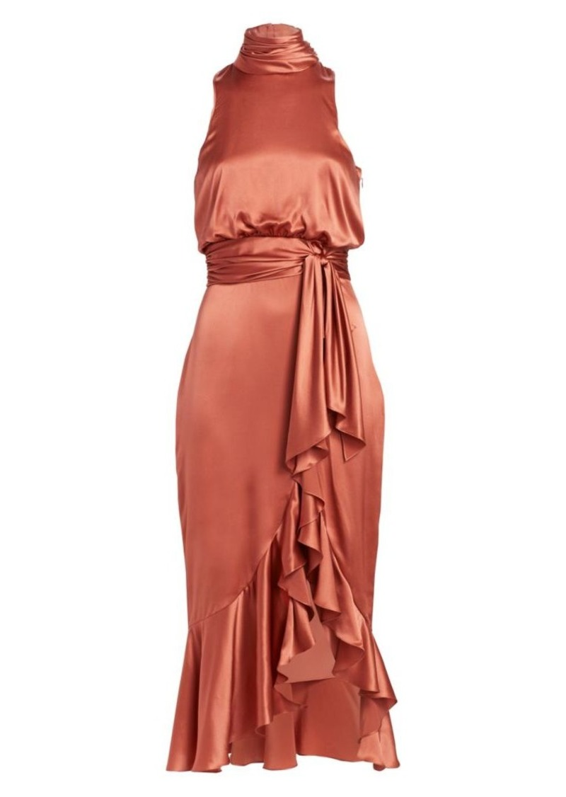 Cinq a Sept Winona Halterneck Midi Dress