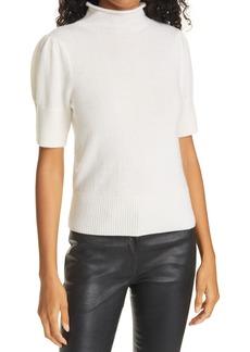 Women's Cinq A Sept Annabelle Short Sleeve Cashmere Sweater