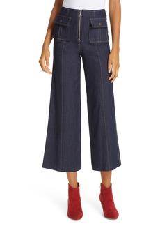 Women's Cinq A Sept Azure Crop Wide Leg Jeans