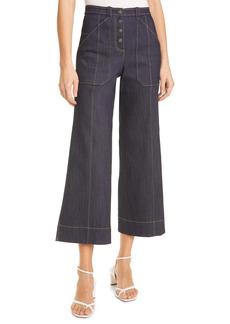 Women's Cinq A Sept Benji Crop Flare Denim Pants