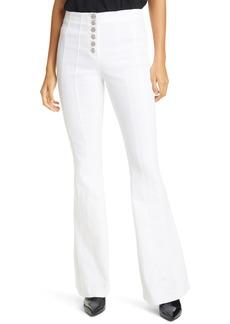 Women's Cinq A Sept Carolina Button Front Flare Pants
