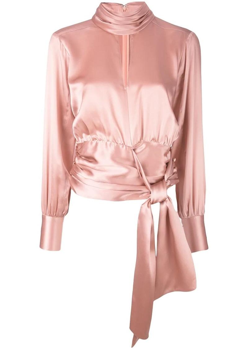 Cinq a Sept wrap waist blouse