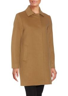Cinzia Rocca A-Line Wool Blend Coat