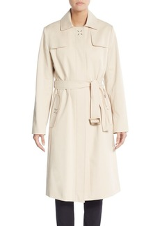 Cinzia Rocca Belted Stretch Cotton Raincoat