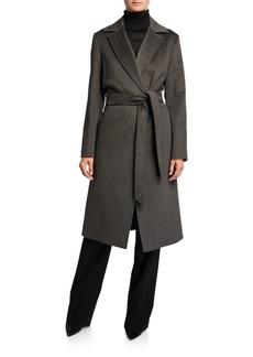 Cinzia Rocca Belted Walker Wool Coat
