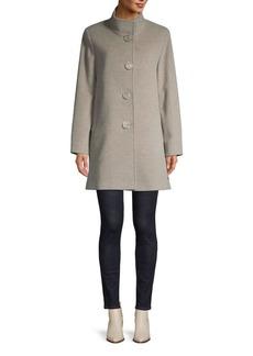Cinzia Rocca Buttoned Wool-Blend Coat