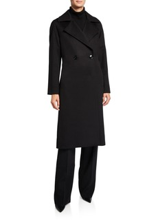 Cinzia Rocca Cashmere Long Double-Breasted Coat