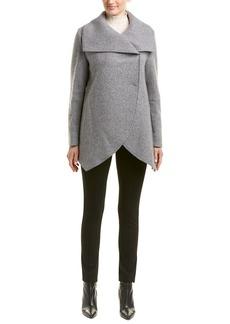 Cinzia Rocca Drape Wool & Cashmere-Blend Coat