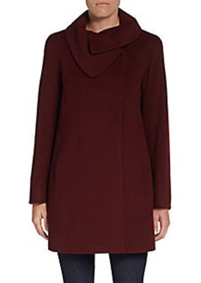 Cinzia Rocca DUE Asymmetrical-Collar Coat