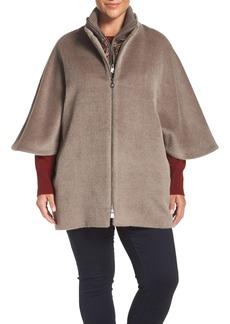Cinzia Rocca DUE Llama & Wool Double Collar Cape (Plus Size)