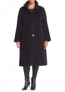 Cinzia Rocca DUE Stand Collar Alpaca & Wool Coat (Plus Size)
