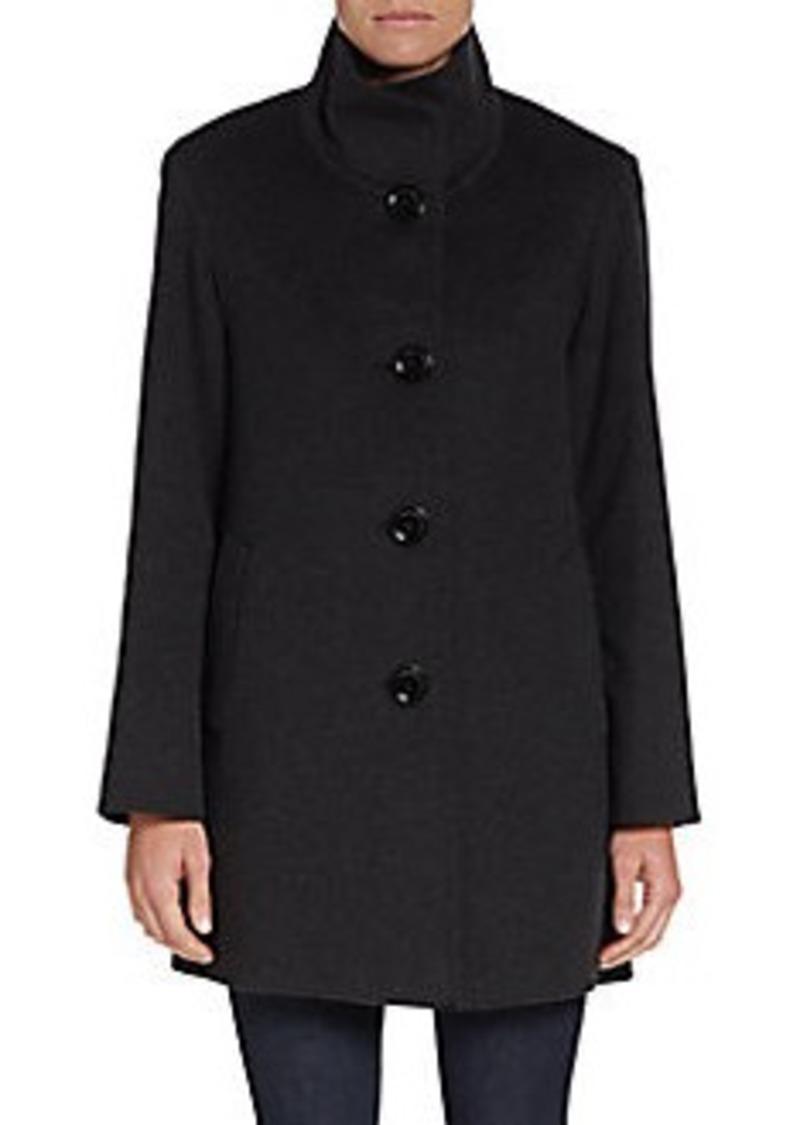 Cinzia Rocca DUE Wool-Blend Funnelneck Coat