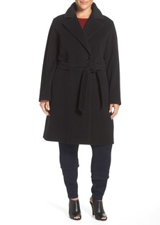 Cinzia Rocca DUE Wool Blend Wrap Coat (Plus Size)