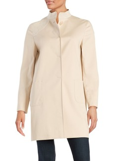 Cinzia Rocca Faux Suede Panelled Trench Coat