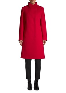 Cinzia Rocca Icons Button-Up Wool Cashmere Coat