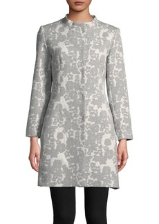 Cinzia Rocca Icons Collarless Floral Jacquard Jacket