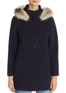 Cinzia Rocca Icons Fox Fur Trim Wool & Cashmere Duffel Coat