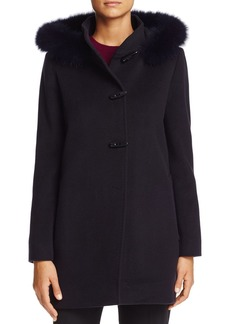 Cinzia Rocca Icons Fox Fur Trim Wool & Cashmere Duffel Coat
