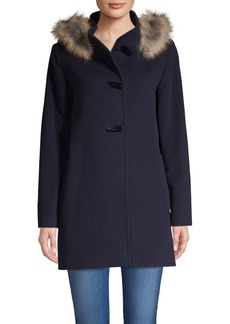 Cinzia Rocca Icons Fox Fur-Trimmed Wool & Cashmere Jacket