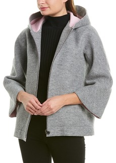 Cinzia Rocca Icons Hooded Wool-Blend Jacket