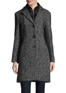 Cinzia Rocca Icons Long Sleeve Tweed Coat