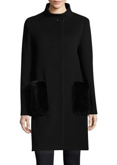 Cinzia Rocca Icons Stand Collar Fur Coat