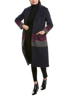 Cinzia Rocca Icons Striped Wool & Mohair-Blend Coat