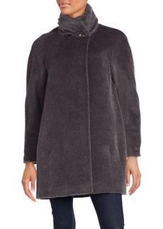 Cinzia Rocca Llama & Wool Blend Coat