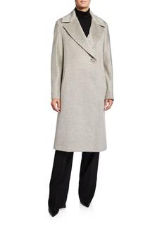 Cinzia Rocca Long Asymmetric-Button Coat
