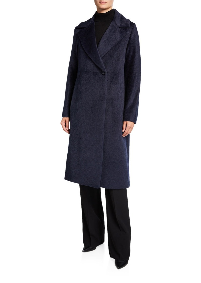 Cinzia Rocca Long Asymmetric-Button Pea Coat