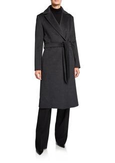 Cinzia Rocca Long Belted Wool Walker