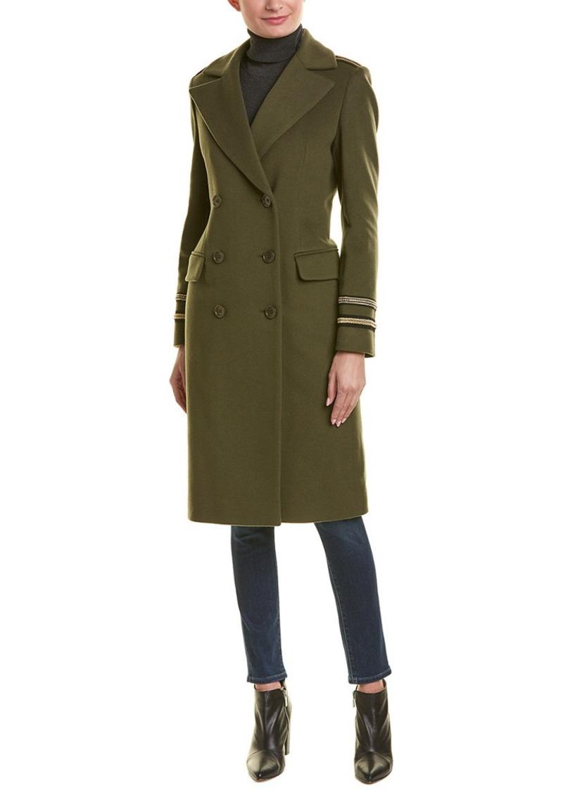 Cinzia Rocca Long Wool & Cashmere-Blend Coat